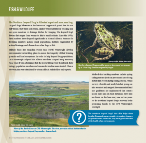 Fish and Wildlife page of the Atlas