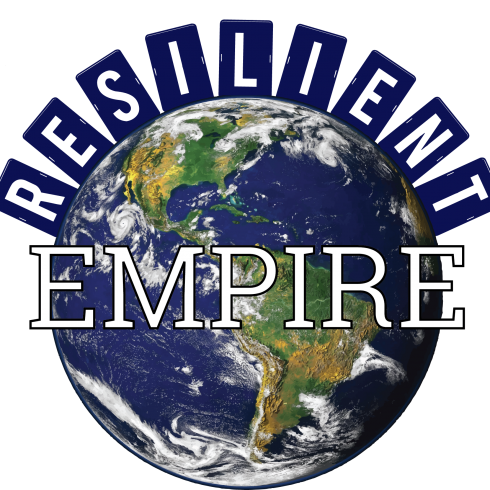 Resilient Empire logo with a globe